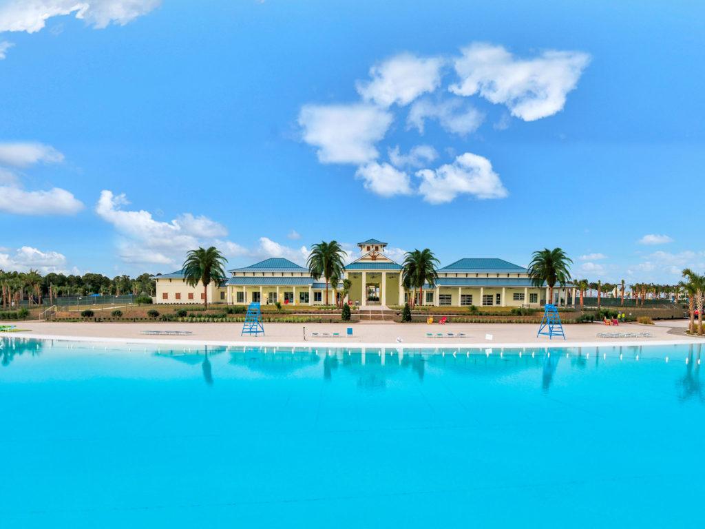 Beachwalk Club's private event club on the Crystal Lagoon beach.